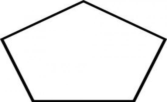how to draw a five sided polygon