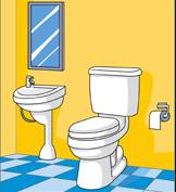 toilet cartoons black and white