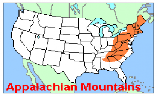 United States Map Appalachian Mountains Thefreebiedepot - United states map mountains