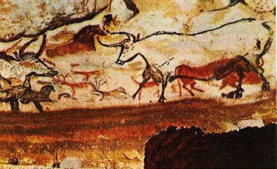 paleolithic hall of bulls lascaux