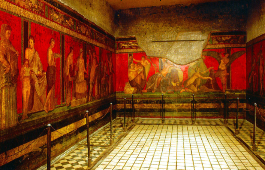 the villa of the mysteries stylistic As a stylistic label,  1308–1311 fresco from the villa of the mysteries  events considered the start of the mannerism art period the oldest known painting.