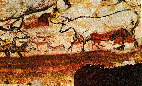 hall of the bulls lascaux Great hall of the bulls lascaux, france paleolithic europe 15,000–13,000 bce rock painting many of the animals are drawn with dark lines and colored in with.